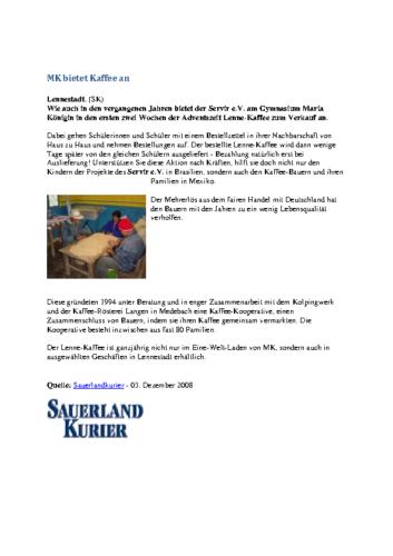 MK bietet Kaffee an (SK, 03.12.2008)