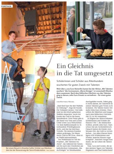 Ein Gleichnis in die Tat umgesetzt (Der Dom, 29.04.2012)