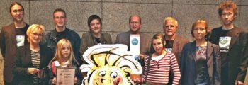 1. Platz beim MSD Kinderwelten Sharety Award